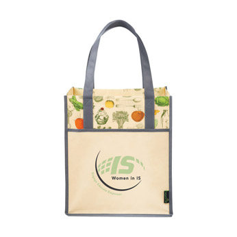 Promotional Custom Imprinted Matte Laminated Non-Woven Polypropylene Vintage Big Grocery Tote