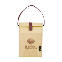 Promotional Custom Imprinted Laminated Non-Woven Polypropylene Brown Bag Lunch Bag