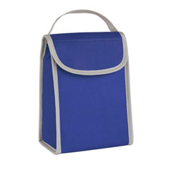 promotional custom imprinted 80 gram non woven water resistant insulated identification folding lunch bag