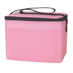 promotional custom imprinted 210 Denier polyester PEVa insulated 6 pack can budget cooler bag
