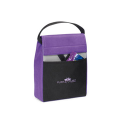 Promotional custom imprinted non-woven foldable Lunch Cooler