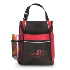 Promotional Custom Imprinted 210D Polyester water bottle pocket attaching buckle thermal lining phth
